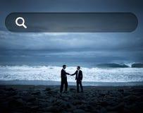 Concept en ligne de site Web d'Internet de technologie de Web de boîte de recherche Image stock