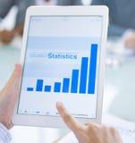 Concept en ligne de statistiques commerciales de Digital Photographie stock libre de droits