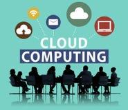 Concept en ligne de stockage d'Internet de réseau informatique de nuage Photographie stock libre de droits