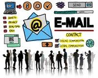 Concept en ligne de Technologgy de transmission de messages de correspondance d'email images stock
