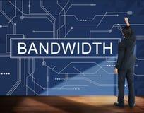 Concept en ligne de technologie de connexion d'Internet de largeur de bande Photo libre de droits