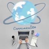 Concept en ligne de technologie de mise en réseau de communication photos stock