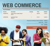 Concept en ligne de technologie de site Web d'achats de commerce électronique Photographie stock libre de droits