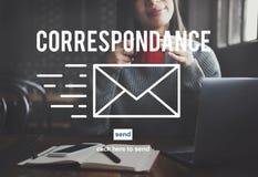 Concept en ligne de transmission de messages de connexion d'email de correspondance images stock