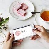 Concept en ligne de vente de page d'accueil de boutique de commerce électronique Photo stock