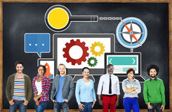 Concept en ligne de Web de technologie d'optimisation de moteur de recherche photo stock