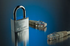 The concept of an encrypted Internet connection. Stock Images