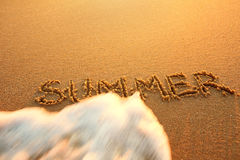 The concept of the end of summer. Concept summer, recreation, tr Royalty Free Stock Image