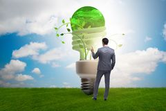 The concept of energy efficiency with lightbulb. Concept of energy efficiency with lightbulb stock images