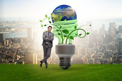 The concept of energy efficiency with lightbulb. Concept of energy efficiency with lightbulb stock photography