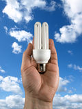 Concept of energy saving Royalty Free Stock Image