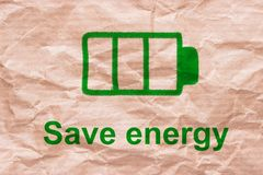 Save energy concept Stock Photography