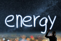 Concept of energy Royalty Free Stock Photos
