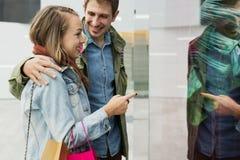 Concept ensemble de achat de client de couples Photo stock
