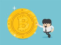 Concept entrepreneurs succeeding in business. Bitcoins. Eps.10 Stock Images