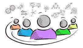 Concept of entrepreneurship. Illustration of an entrepreneurship concept Royalty Free Stock Photography
