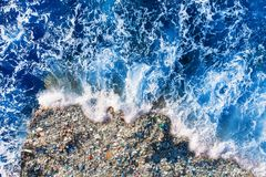 Free Concept Environmental Pollution Ocean And Water With Plastic And Human Waste. Aerial Top View Stock Photography - 164267082