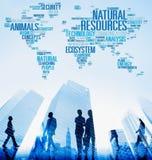 Concept environnemental d'écologie de conservation de ressources naturelles images stock