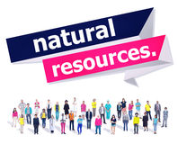 Concept environnemental d'énergie de la terre de ressources naturelles photographie stock libre de droits