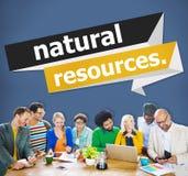 Concept environnemental d'énergie de la terre de ressources naturelles photos stock