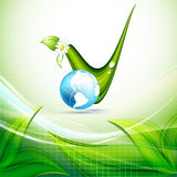 Concept environnemental de vecteur. Eps10 Images libres de droits