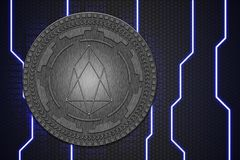 Concept of EOS coin. Cryptocurrency blockchain platform , Digital money royalty free stock images