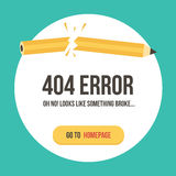 Concept 404 error page vector illustration. Error web page template Stock Photos