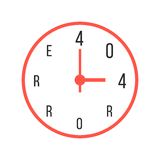 Concept of error 404 with red watches Royalty Free Stock Image