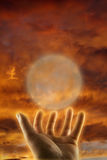 Concept of esoteric healing hand