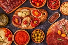 Concept espagnol typique de tapas Image stock