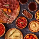 Concept espagnol typique de tapas Photos stock
