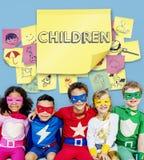 Concept espiègle d'enfance de plaisir de bonheur d'enfants Image libre de droits