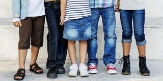 Concept espiègle de bonheur d'unité d'amitié d'enfants Photographie stock libre de droits