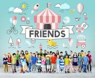 Concept espiègle de la jeunesse énergique d'enfants d'enfants Image libre de droits