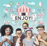 Concept espiègle de la jeunesse énergique d'enfants d'enfants Image stock