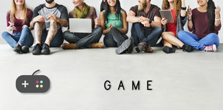 Concept espiègle de plaisir de loisirs de jeu Images libres de droits