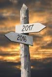 concept 2016 et 2017 Photographie stock libre de droits