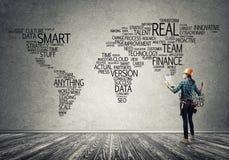 Concept et mondialisation de construction Image libre de droits