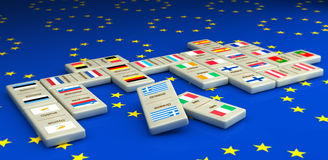 Concept of euro in dominoes tiles Royalty Free Stock Image