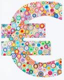 Concept euro op kleurrijk die document met het quilling van techniek o wordt gemaakt Royalty-vrije Stock Foto's