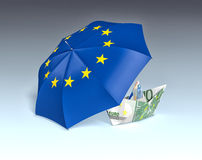 Concept of europe and euro currency Royalty Free Stock Photo