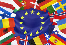 Concept  European Flag and Countries without UK Royalty Free Stock Photo