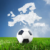Concept European football Stock Photo