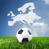 Concept European football Stock Photo