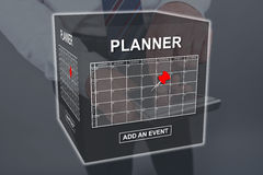 Concept of event adding on planner Stock Photo