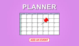 Concept of event adding on planner Stock Image