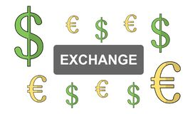 Concept of exchange. Illustration of an exchange concept stock illustration