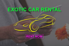 Concept of exotic car rental Royalty Free Stock Photography