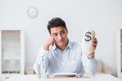The concept of expensive dining in restaurants. Concept of expensive dining in restaurants Stock Photography