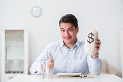 The concept of expensive dining in restaurants. Concept of expensive dining in restaurants Stock Image